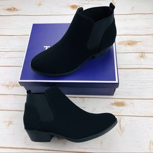 Top Moda Black Draco Booties Slip on Chelsea Boot